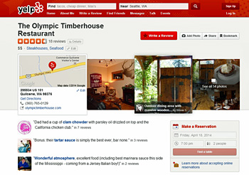 Timberhouse Page on Yelp. Click to View!